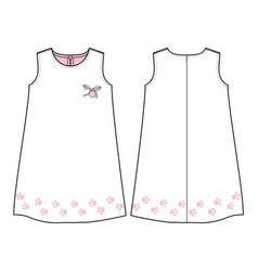 Summer dress for bagirls vector