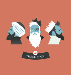 Three hipsters kings-02 vector