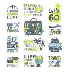 Travel motivation badge logo vector