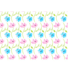 vintage watercolor flower seamless pattern vector image