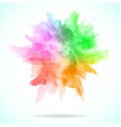 watercolor explosion vector image