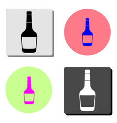 whiskey bottle flat icon vector image