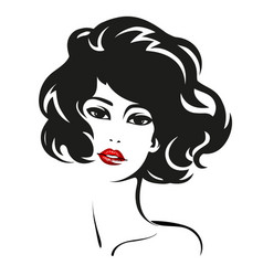 woman face fashion portrait vector image