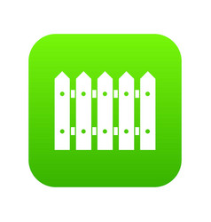 wooden fence icon digital green vector image