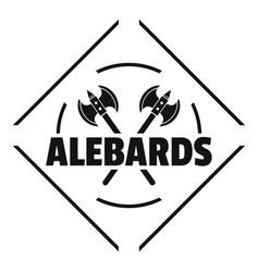 alebard logo simple black style vector image