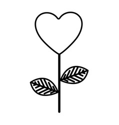 figure heart balloon plant icon vector image