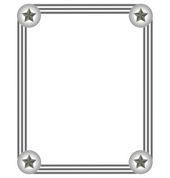 frame in grey colours vector image vector image