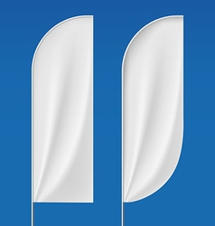Set flagpoles Stock vector image