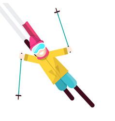 skier isolated on white background vector image