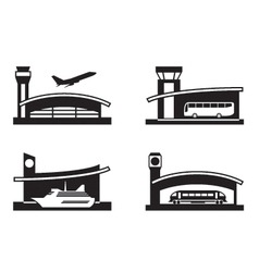 Stations of public transport vector image vector image