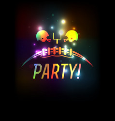 american football party template background vector image
