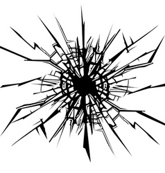 cracks in the glass vector image