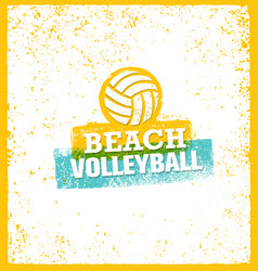 beach volleyball bright design element on vector image vector image
