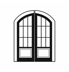 Double door icon simple style vector image