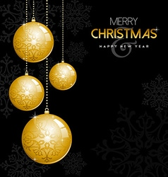 Gold Christmas and new year ornament bauble balls vector image vector image