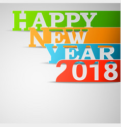 Happy new year 2018 paper vector