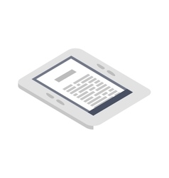 Isometric e-book icon flat vector image