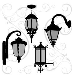 lanterns set vector image