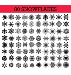 Snowflakes Isolated Set vector image vector image