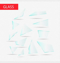 glass pieces transparent glass vector image