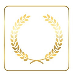 Gold laurel wreath Symbol victory vector image vector image