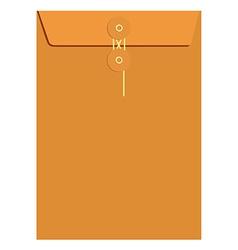 Orange sealed envelope vector image vector image