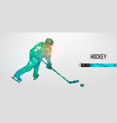 abstract silhouette a hockey player vector image