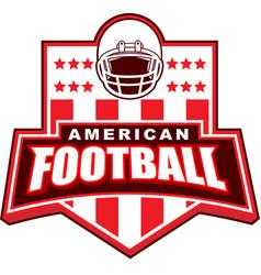 American football badge logo vector