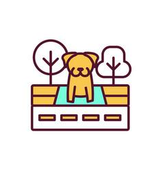Animal abandonment rgb color icon vector