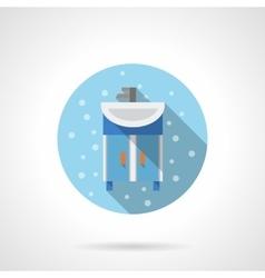 Bathroom washstand round flat color icon vector image