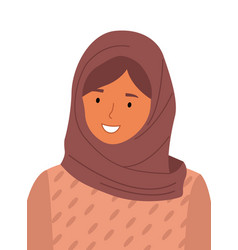 beautiful muslim woman wearing hijab fashion vector image