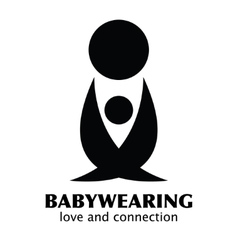 Black and White Babywearing Symbol With vector