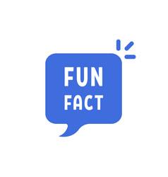 Blue fun fact simple bubble vector