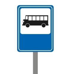 bus stop signal isolated icon vector image