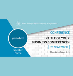 Business conference template facebook banner vector