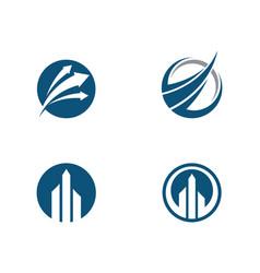 Business finance logo template vector