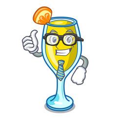 Businessman mimosa character cartoon style vector