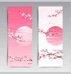 Cherry blossom realistic sakura japan vector