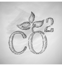 Co2 sign dioxide icon vector