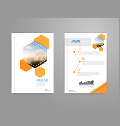 Cover annual report brochure flyer template vector