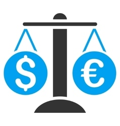 Currency Balance Flat Icon vector image
