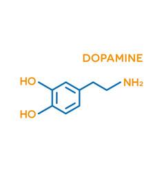 dopamine hormone molecular formula human body vector image