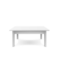 empty white table design plastic teble with vector image