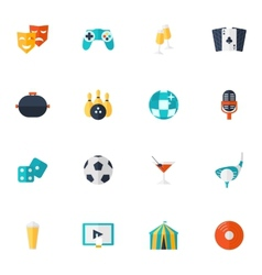 Entertainment Icons Flat Set vector image