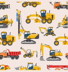excavator for construction digger vector image