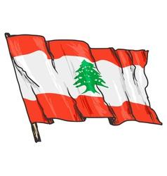flag of Lebanon vector image
