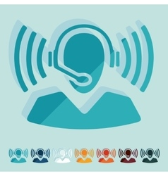 Flat design call center vector image