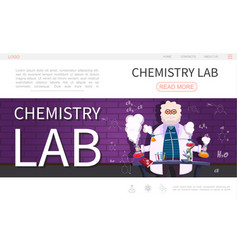 Flat laboratory research landing page template vector