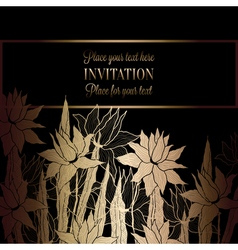 Floral background with antique luxury black and vector image