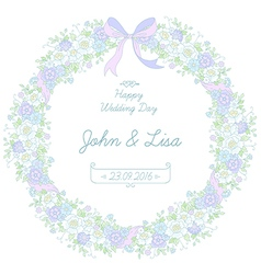 floral ribbon wreath vector image